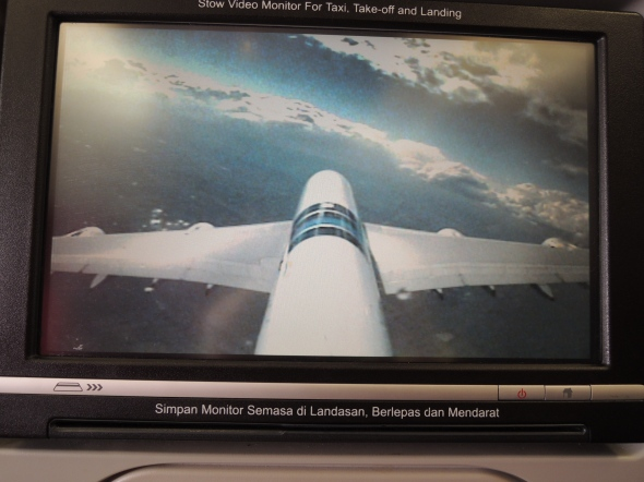 Video camera on tail of aeroplane which shows you when you're about to land omg