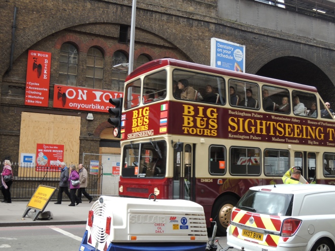 The busy streets of London Bridge City