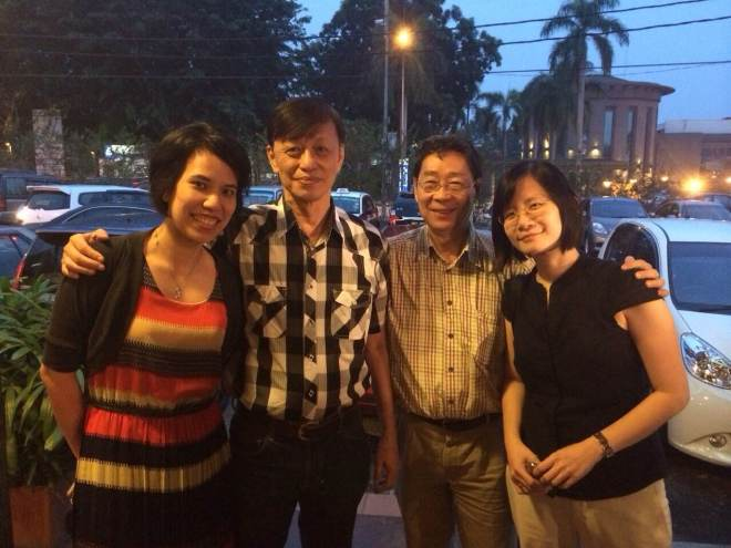 Miss MC, Mr Lee, Mr Ng and Miss Cherilyn