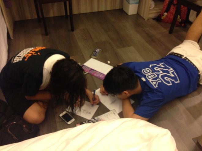 Taliza and Karu had drawing lessons