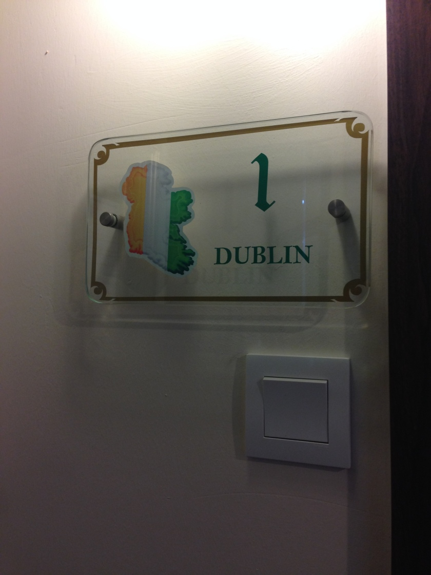Our room was called Dublin so nice