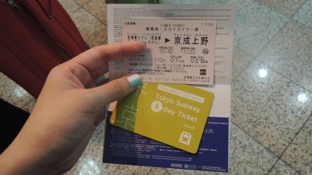 Skyliner ticket + three-day Tokyo subway ticket