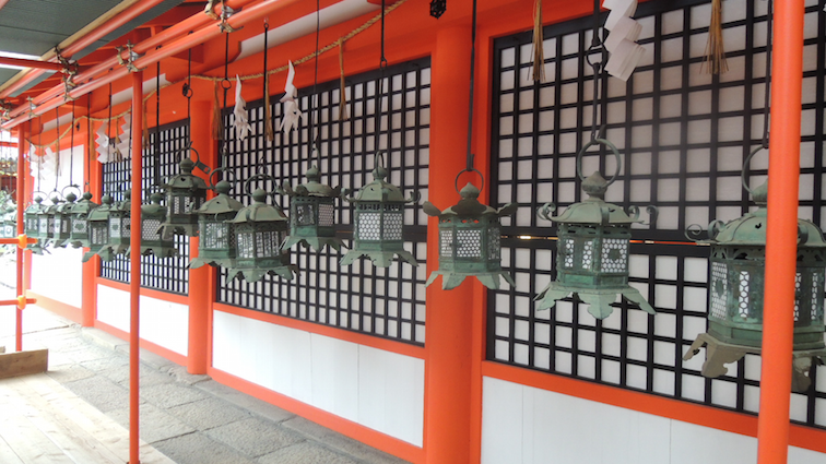 Kasuga Taisha is famous for its multitude of bronze lanterns hung around the shrine