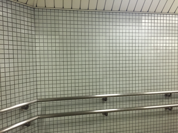 Ueno-sanchome station / I've also got a thing for Japanese subway pastel grid walls which, I suppose, is a very Tumblr thing Social experiment: I posted this photoset on Tumblr. It got 30 notes