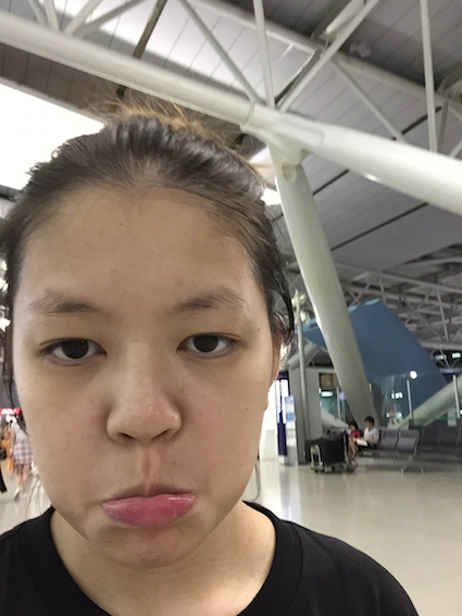Sad face at airport means sad right